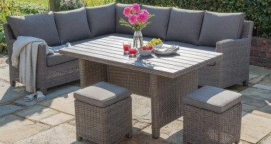 Make choice of modular corner garden furniture